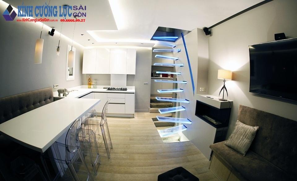 Cầu thang bằng kính cường lực