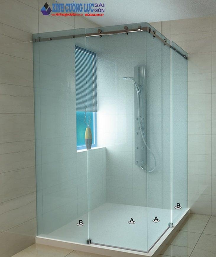 Cửa kính lùa ray treo 10x30 - cửa kính, cửa kính cường lực
