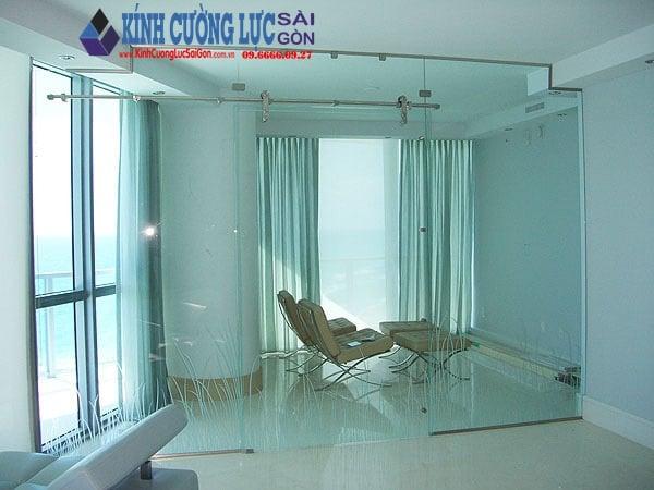 Cửa kính lùa ray treo 10×30 - Cửa kính, cửa kính cường lực