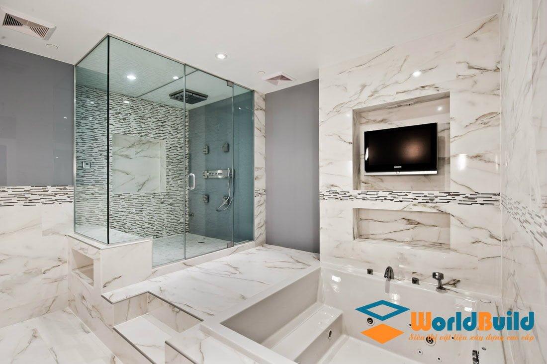Vách kính phòng tắm sang trọng và đẳng cấp